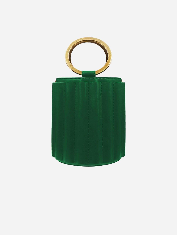 Water Vegan Leather Metal Handle Bucket | Multiple Colours