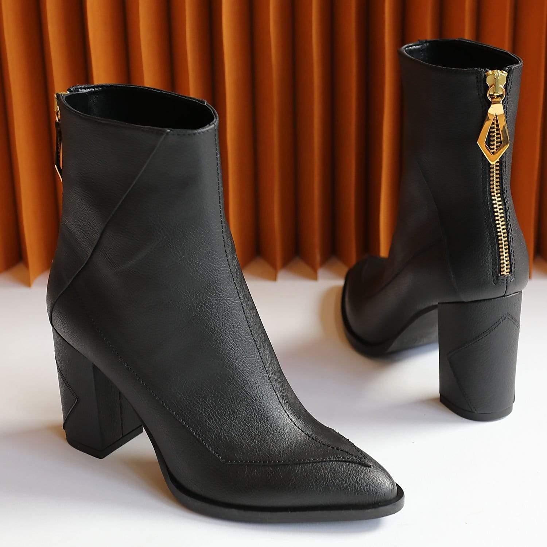 Sylven New York Almasi Apple Leather Vegan Boot | Black
