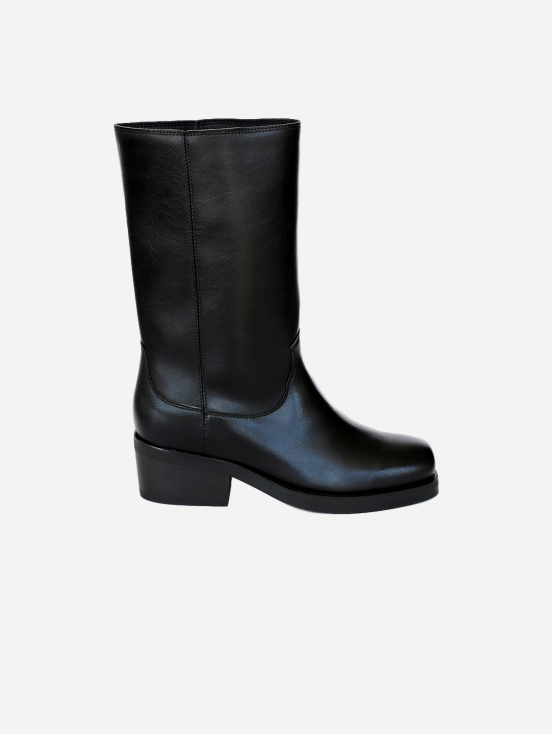 Willie High Top Vegan Leather Motorcycle Boots | Black