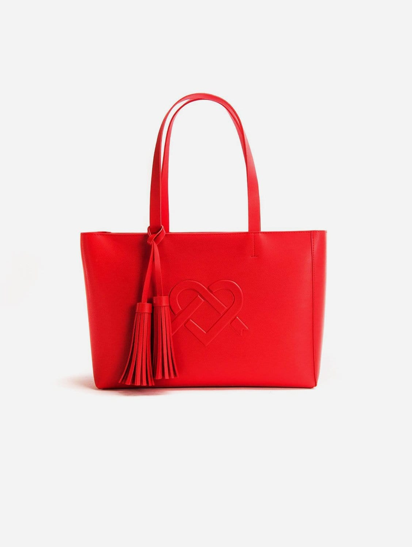 Tippi Vegan Leather Tote Bag | Red
