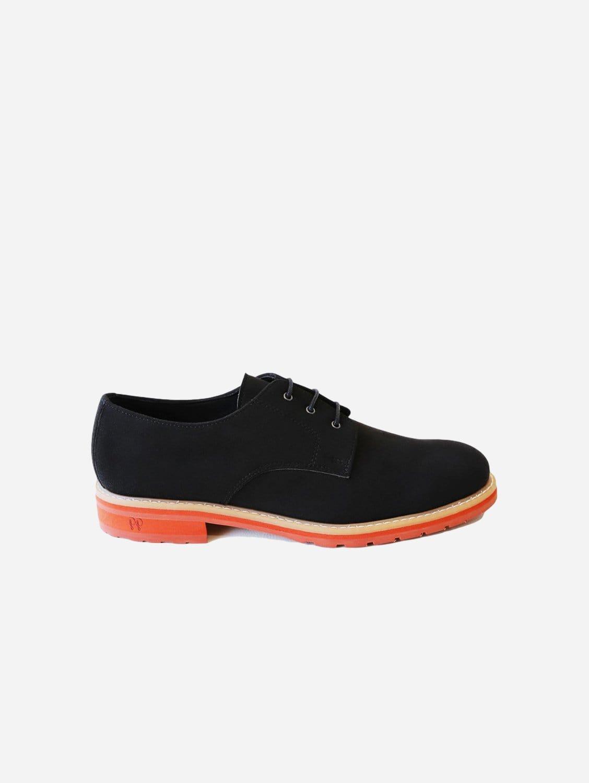 Aponi 2.0 Vegan Suede Derby Shoe | Black