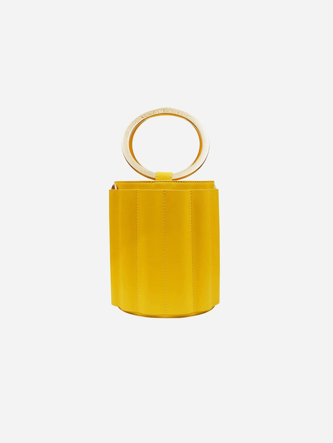 Water Small Vegan Leather Metal Handle Bucket | Multiple Colours