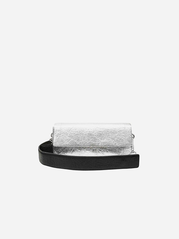 Air Piñatex Vegan Leather Rectangle Crossbody Bag | Silver