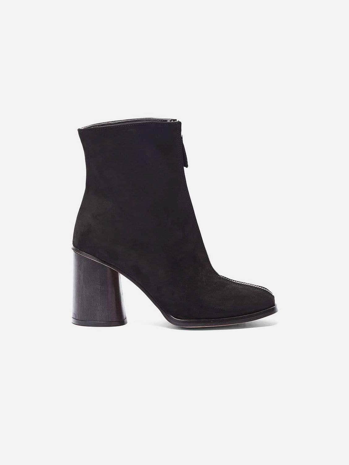 Lourdes Recycled Polyester Vegan Suede Ankle Boot   Black