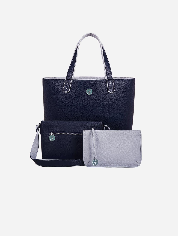 The Morphbag by GSK 3 Vegan Leather Bags in 1 | Deep Sea & Cloud