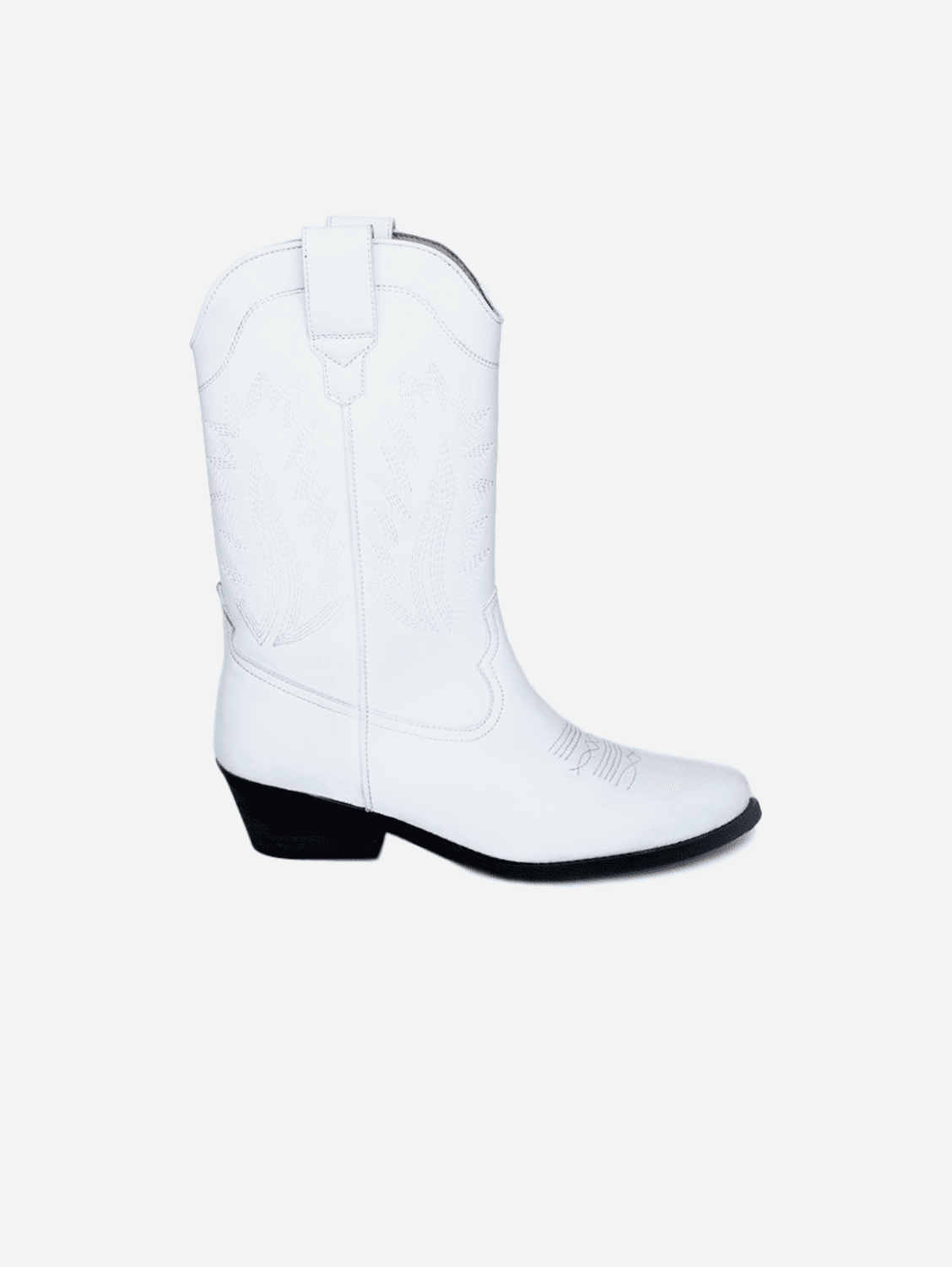Lucky Unisex High Top Cowboy Boots | White