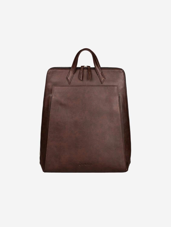 Urban Vegan Leather Backpack | Brown