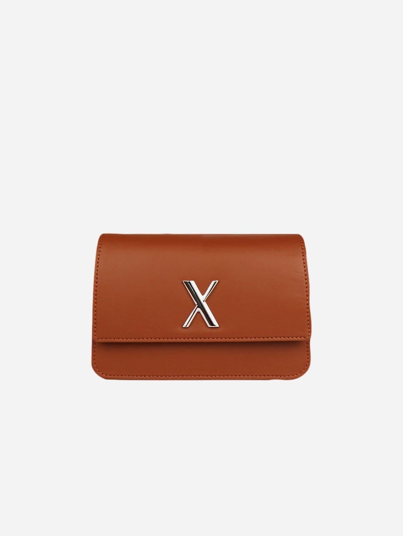 Zaha Bio-Leather Vegan Leather Belt Bag | Caramel
