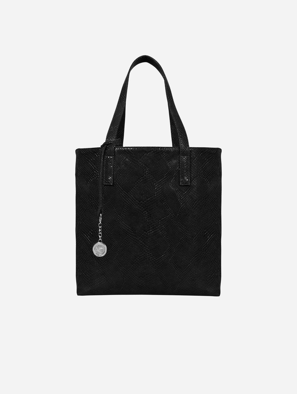 Simma Vegan Leather Tote Bag | Black