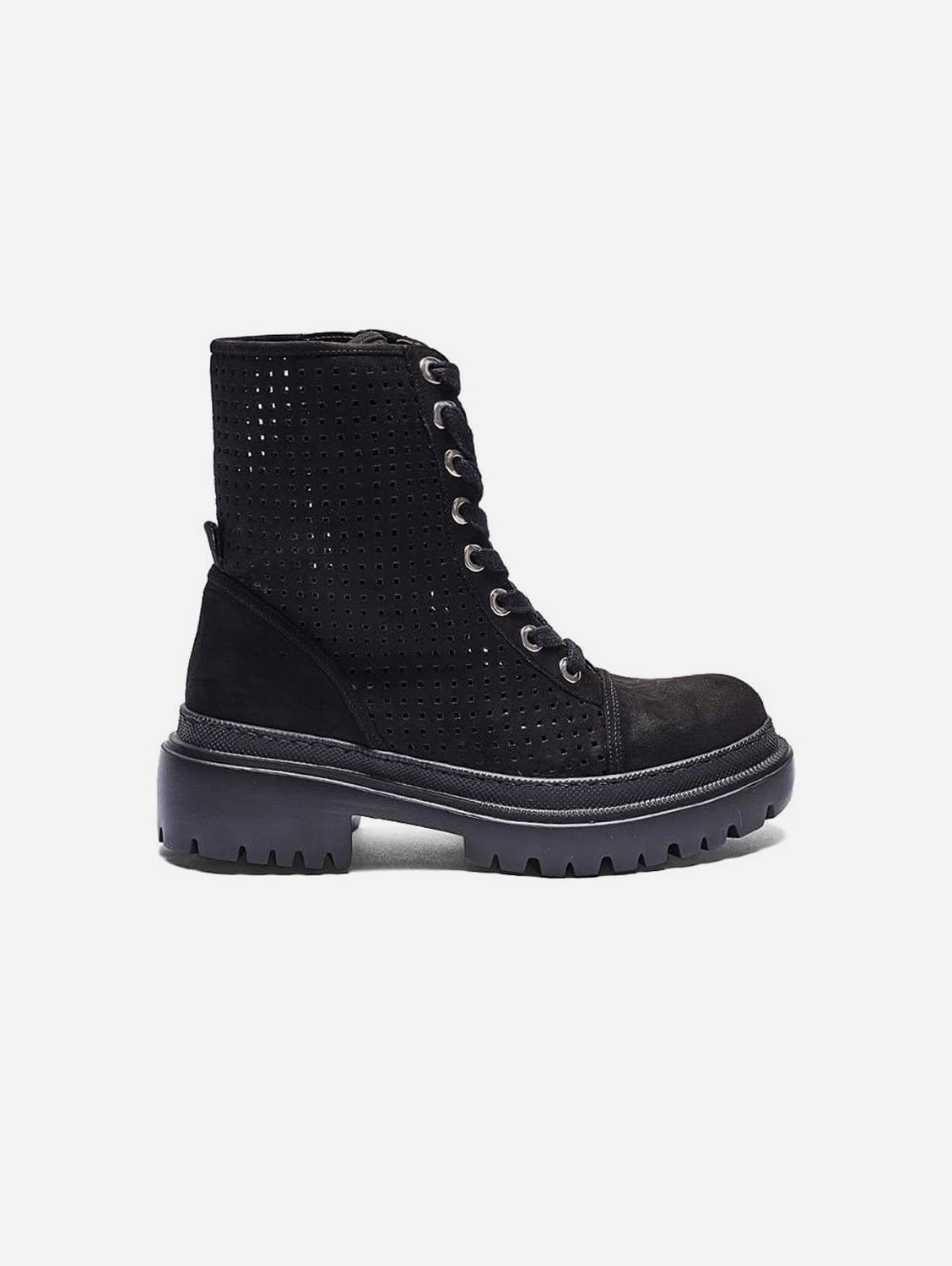 Juno Recycled Polyester Vegan Suede Summer Boot   Black