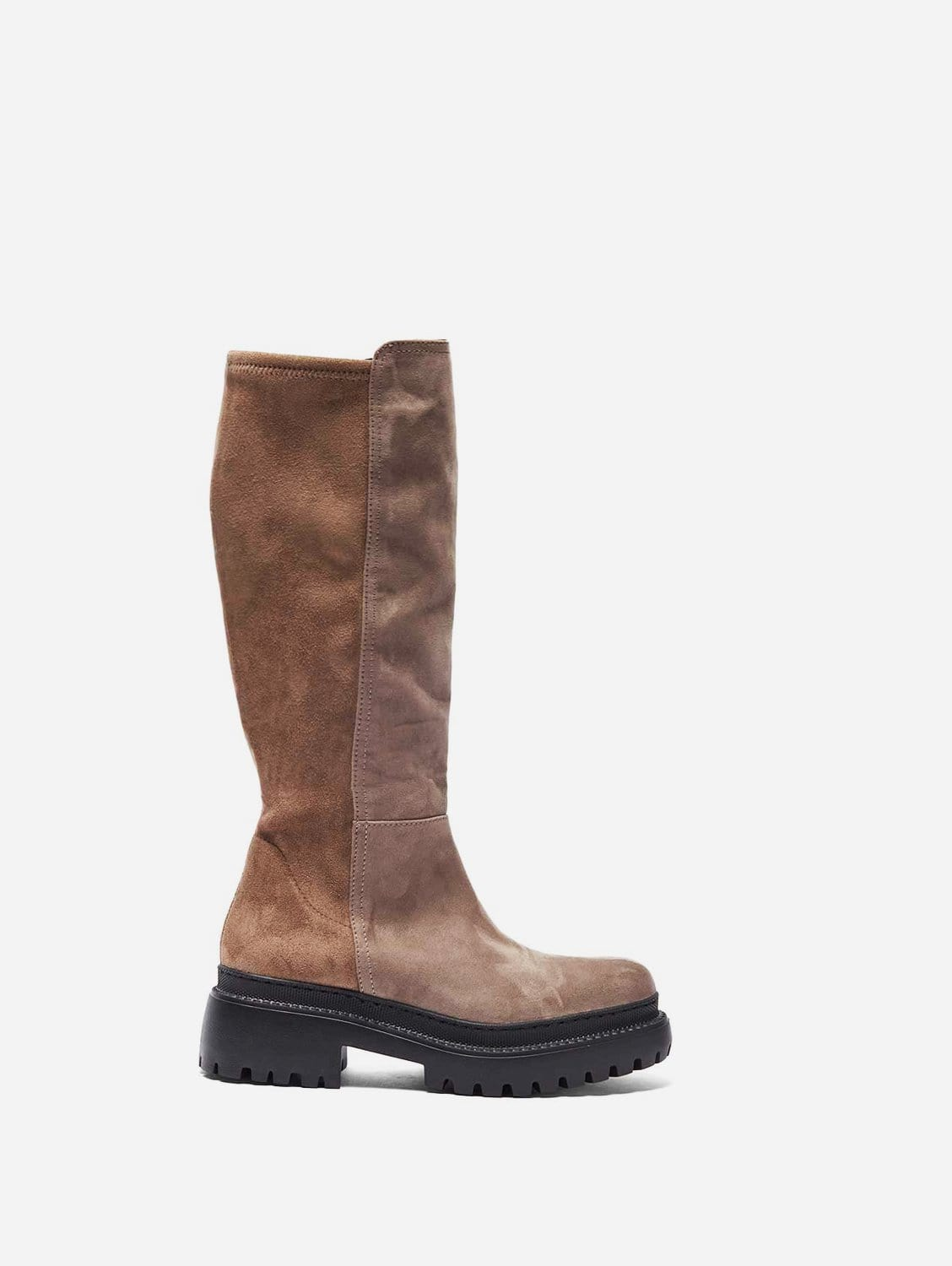 Laila Recycled Polyester Vegan Suede Winter Boots   Taupe