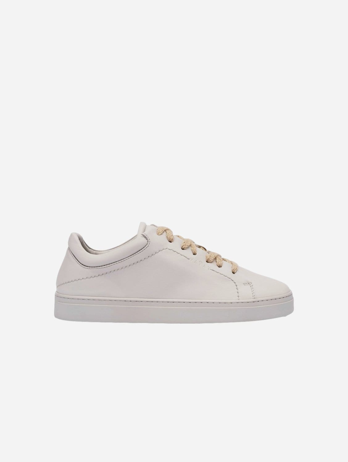 Neven Vegan Leather Low-Top Trainer | Edelweiss Grey