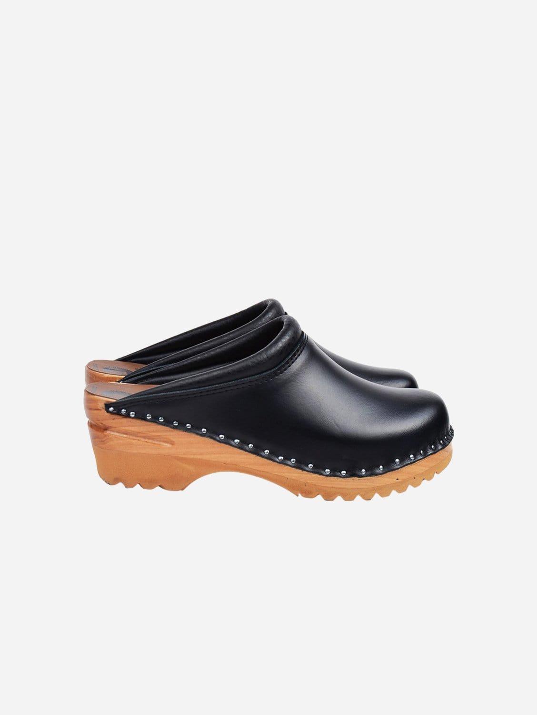 Rembrandt Vegan Leather Clogs | Black