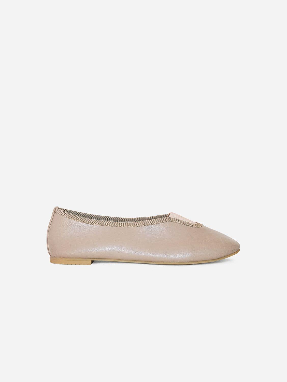 Rhythmic Vegan Nappa Leather Ballet Flats | Taupe Pink