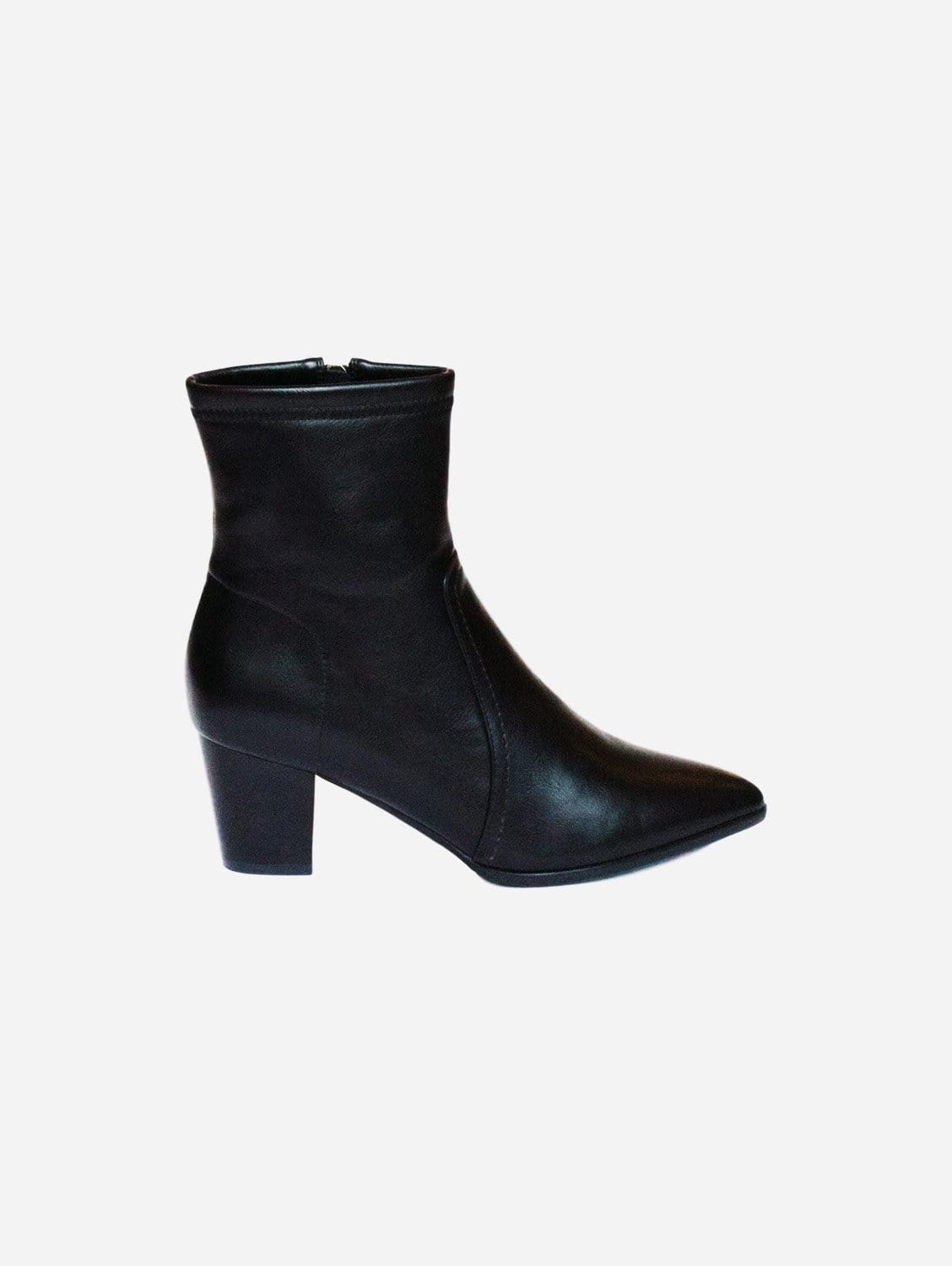 Kali Cowboy Style Up-Cycled Vegan Leather Boot | Black