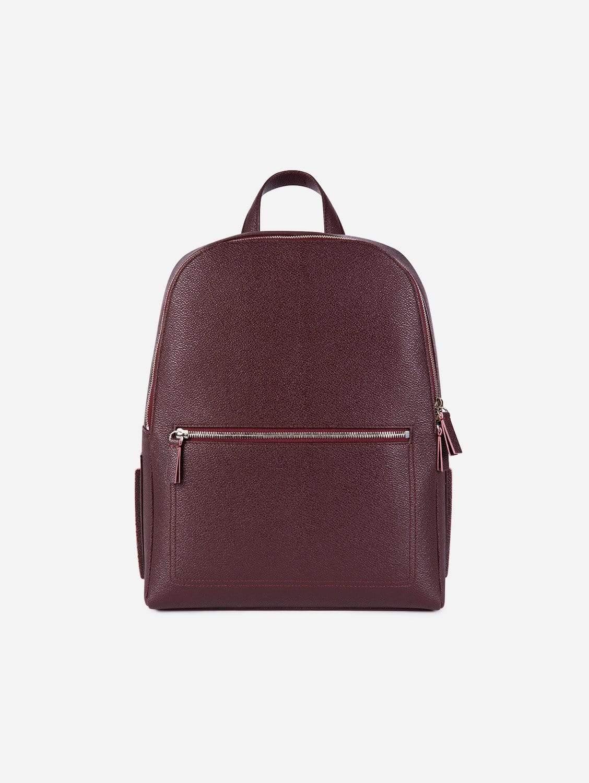 Farrell Apple Leather Vegan Backpack | Burgundy
