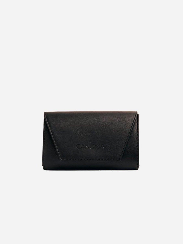 Hybrid Mini Vegan Leather Clutch & Belt Bag | Black
