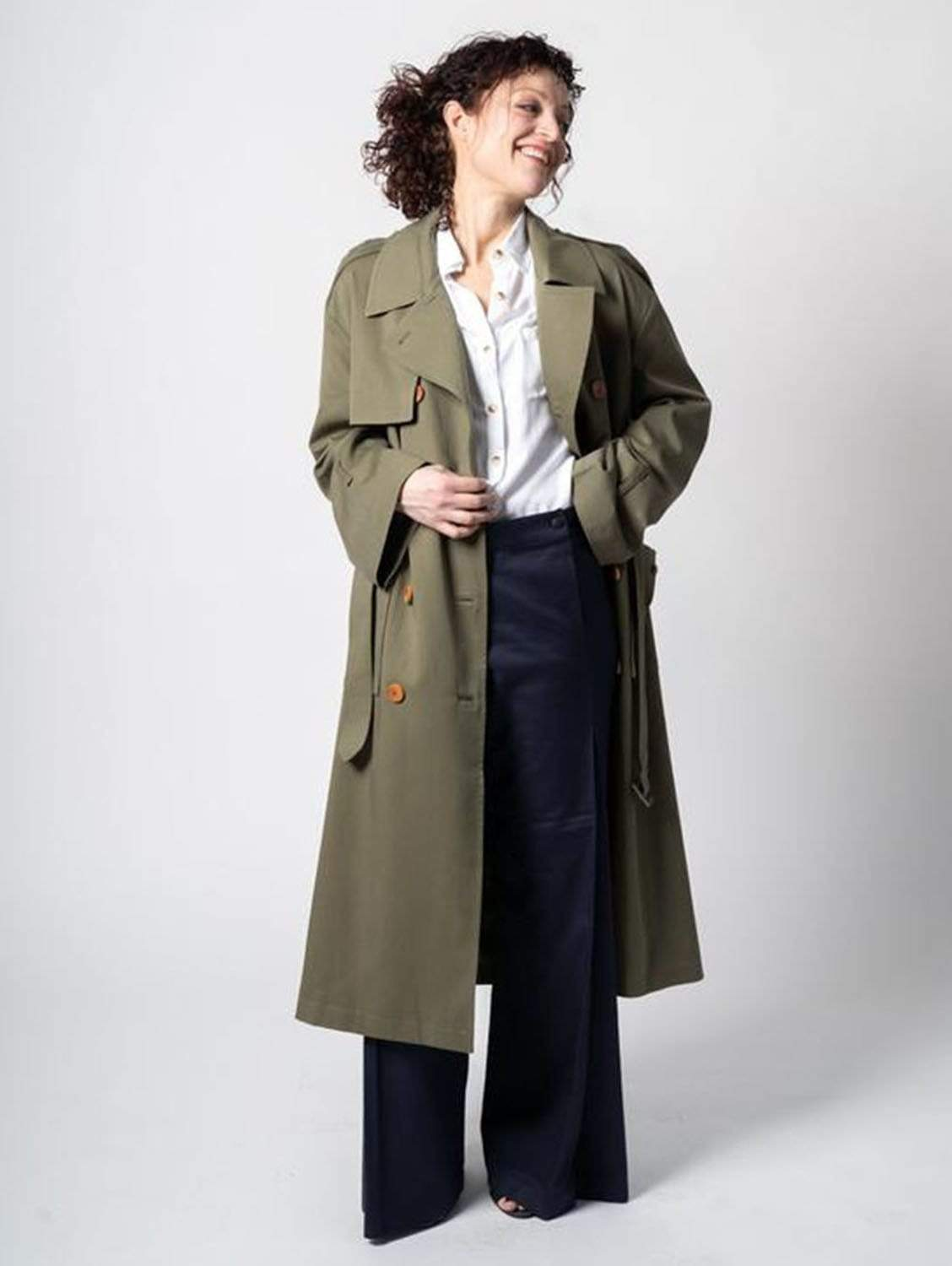The Slouchy TENCEL™ blend Trench | Olive