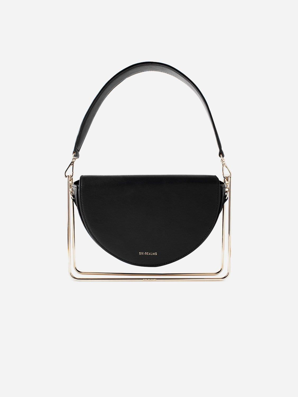 SATORI MOON Vegan Suede & Leather Contemporary Bag | Ink