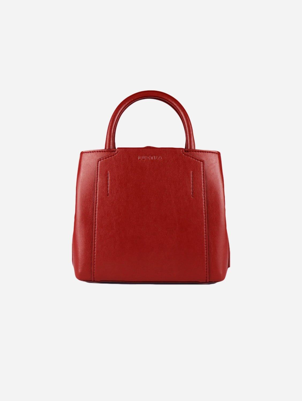 Nina Desserto® Cactus Leather Vegan Mini Handbag   Dark Cherry