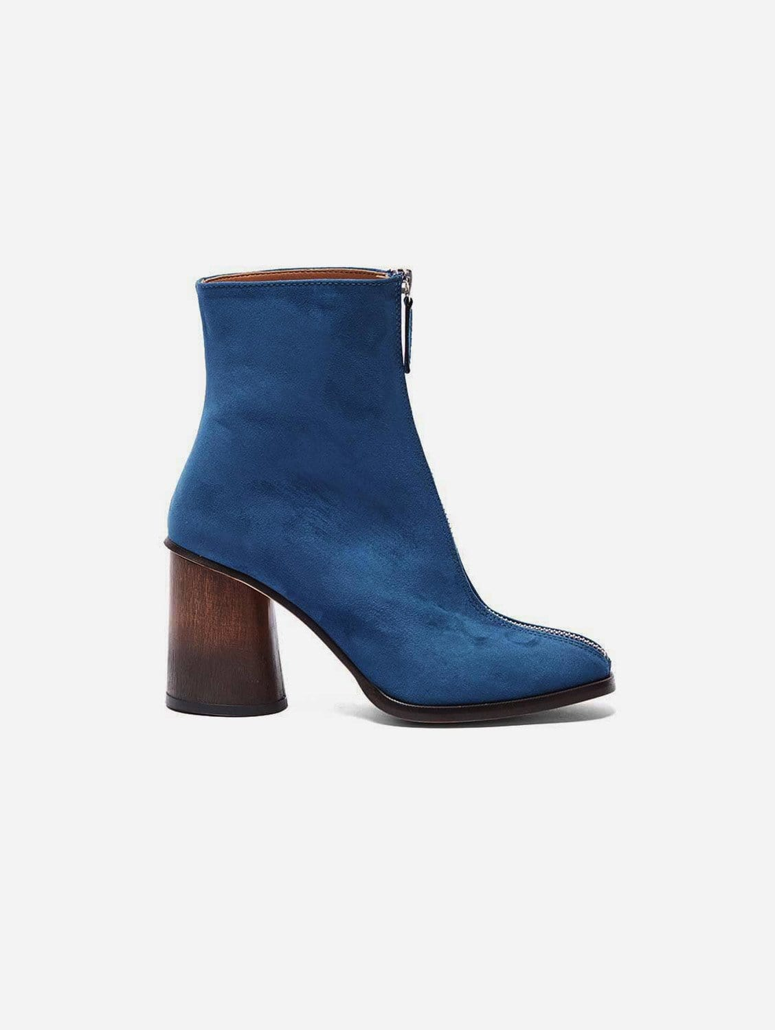 Lourdes Recycled Polyester Vegan Suede Ankle Boot   Blue