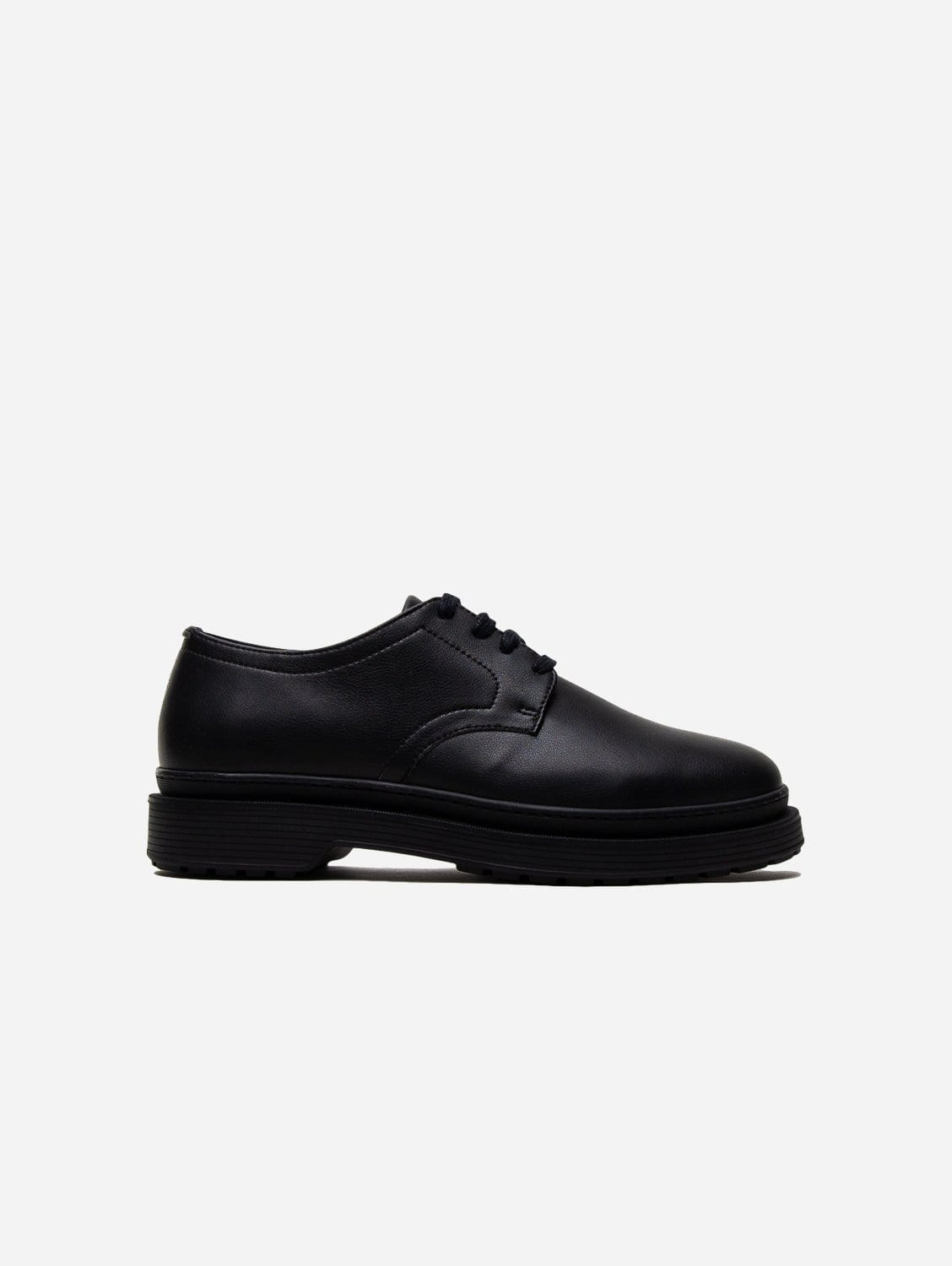 Bobby Sustainable Vegan Leather Derby | Black