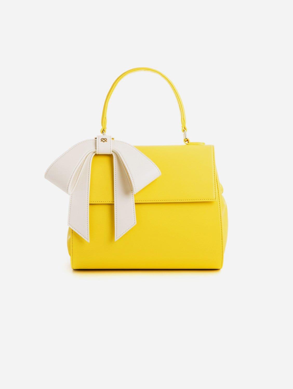 Cottontail Vegan Leather Handbag   Yellow