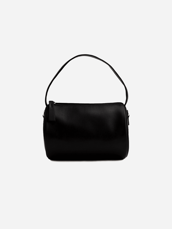 Vegan Leather Mini Duffel Bag | Onyx