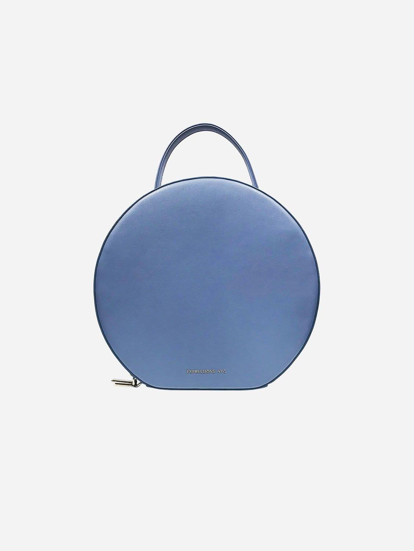 SOHO Round Vegan Leather Backpack | Blue