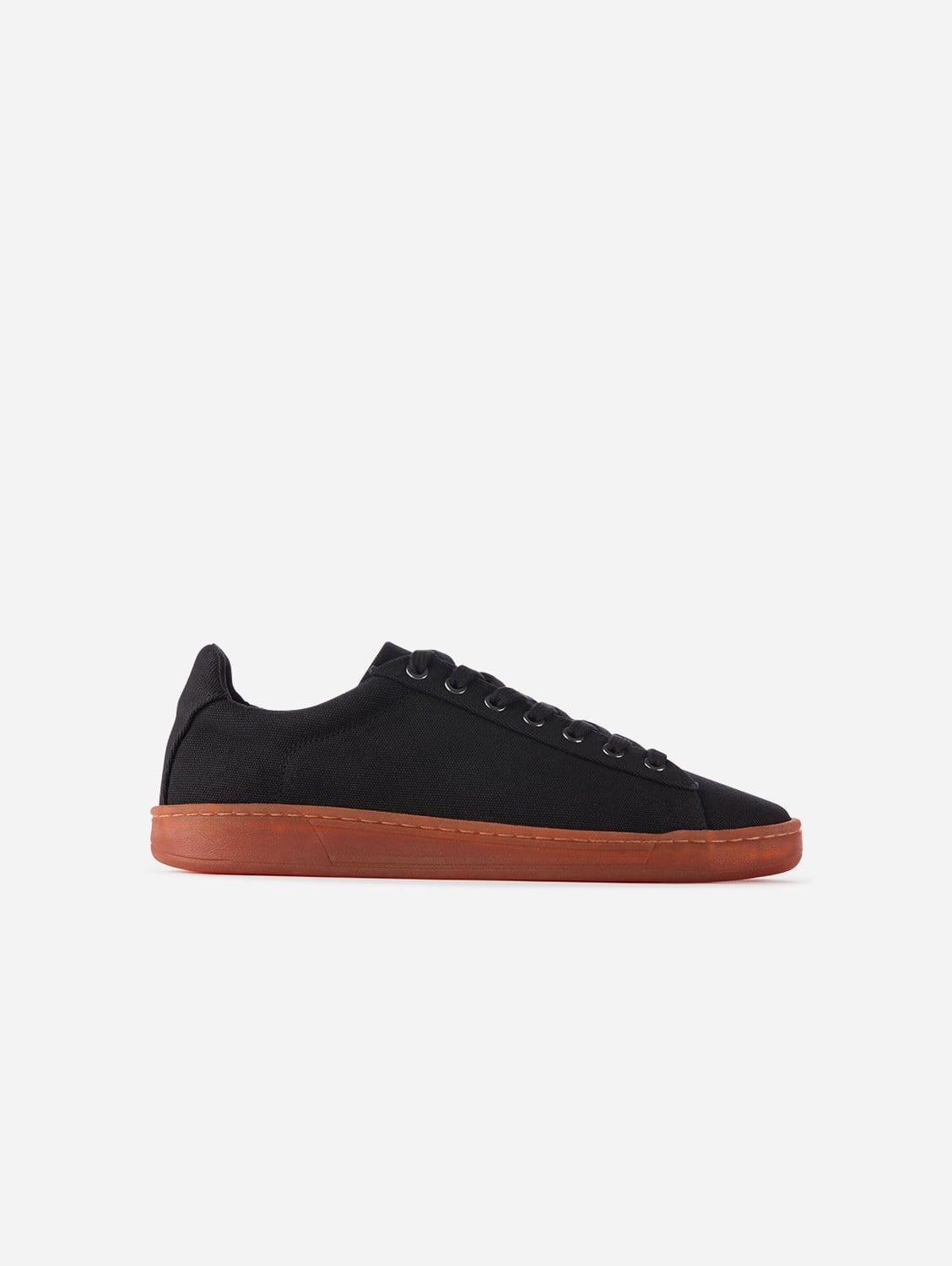 Hope Plastic-Free Organic Canvas Trainer | Black Red