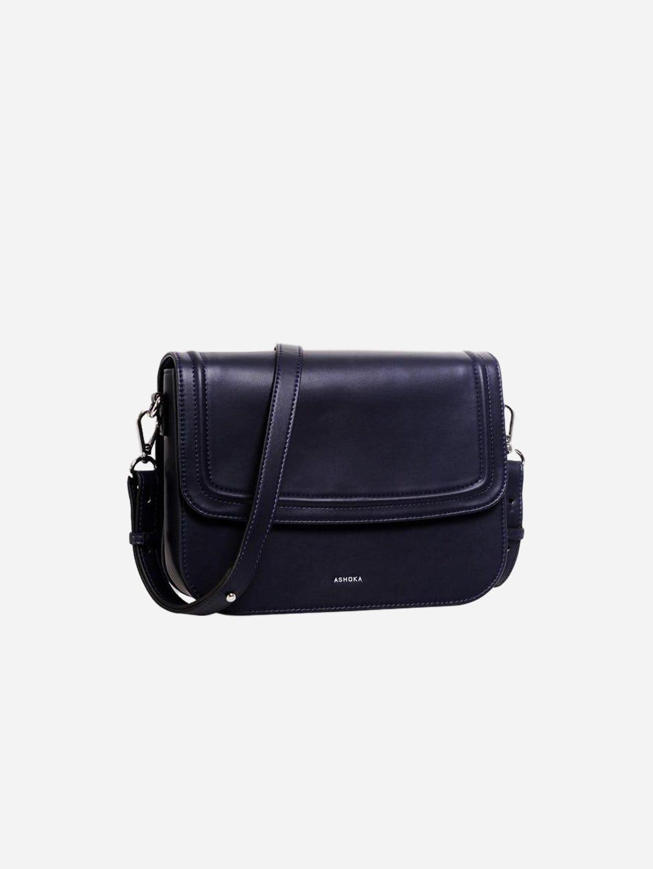 Brigitte Couture Vegan Leather Handbag   Navy