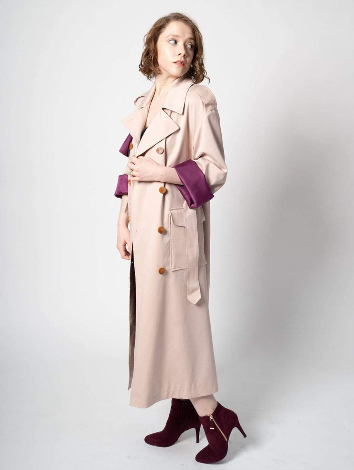 The Slouchy TENCEL™ blend Trench | Petal