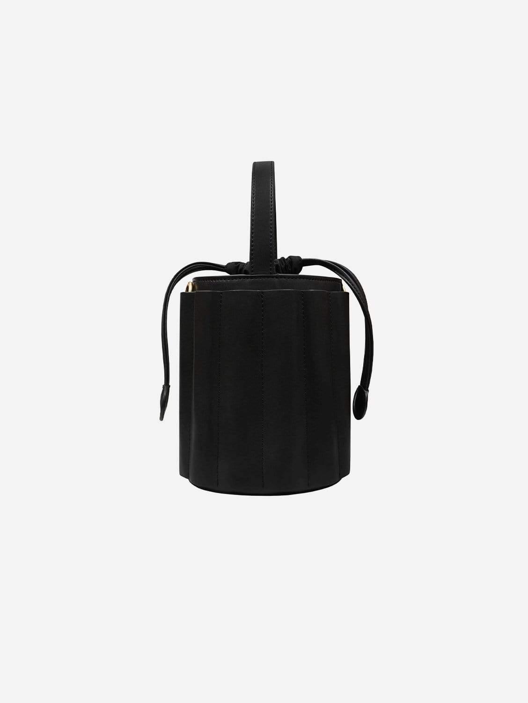 Water Vegan Leather Bucket Bag | Black