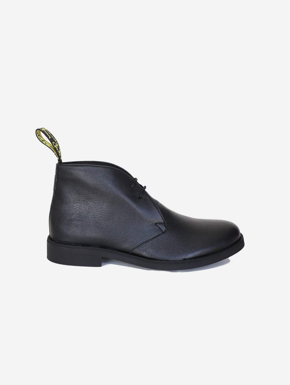 Cooper Apple Leather Vegan Desert Boots | Black