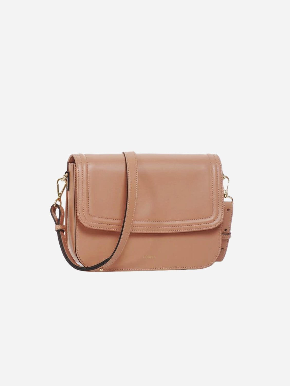 Brigitte Couture Apple Leather Vegan Handbag   Pink Nude