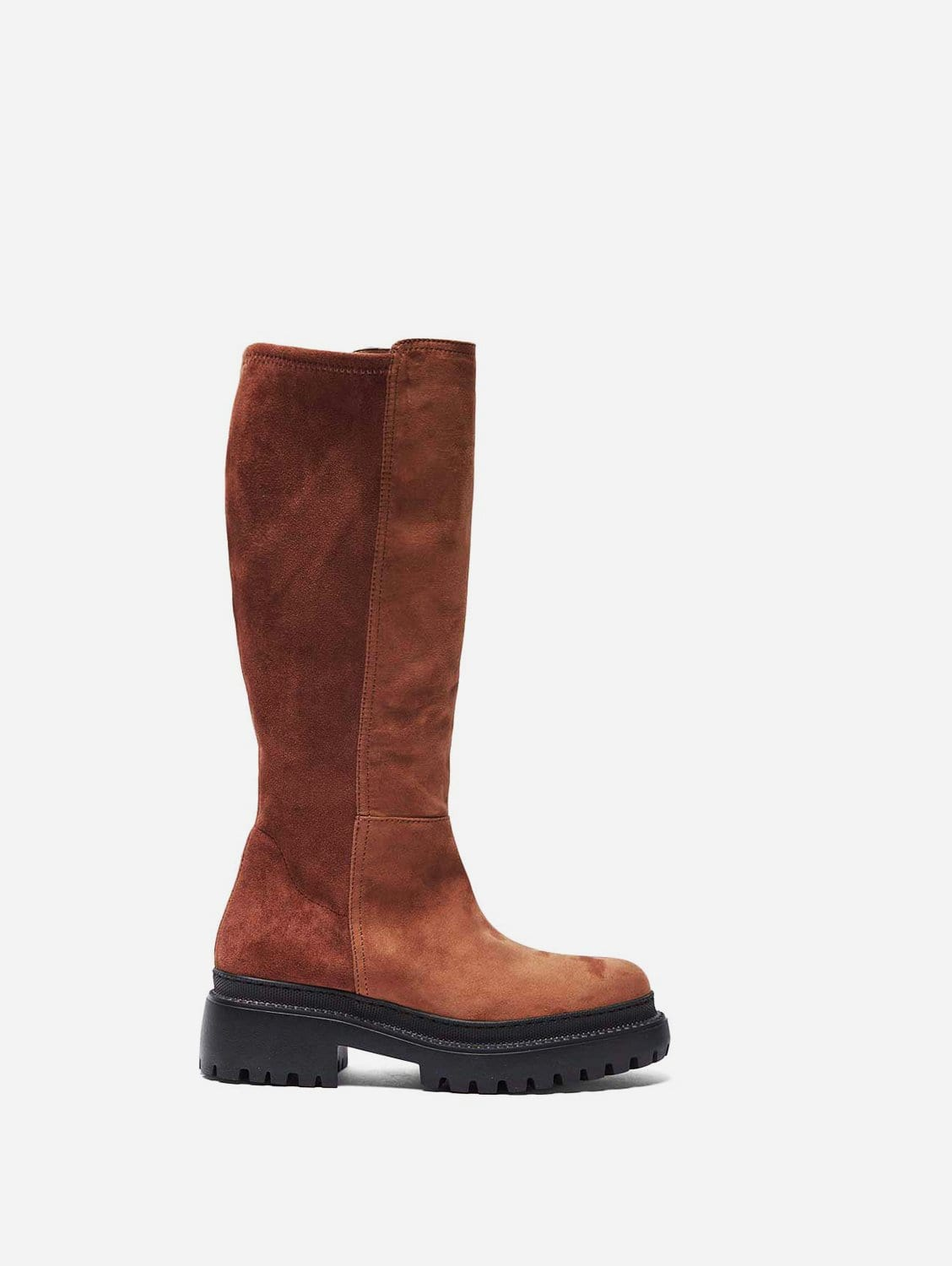 Laila Recycled Polyester Vegan Suede Winter Boots   Camel