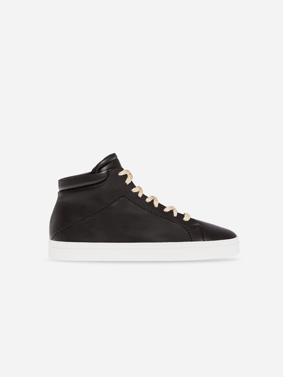 Neven Vegan Leather High-Top Trainer | Slate Black & White Sole