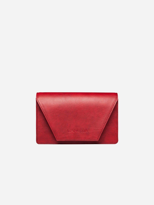 Hybrid Versatile Vegan Leather Crossbody Bag | Red