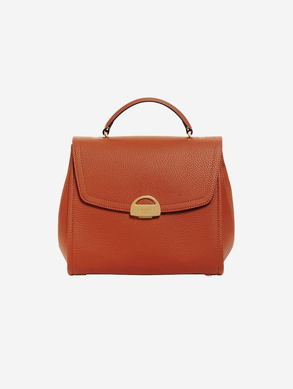 Paname Apple Leather Vegan Handbag   Camel