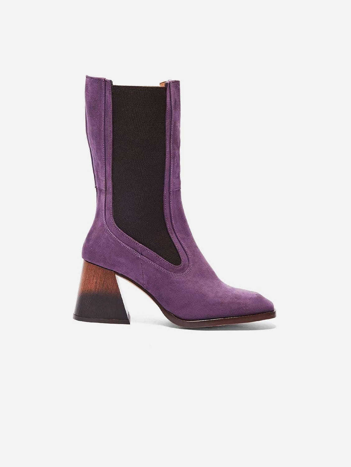 Lola Recycled Polyester Vegan Suede Boots   Lilac
