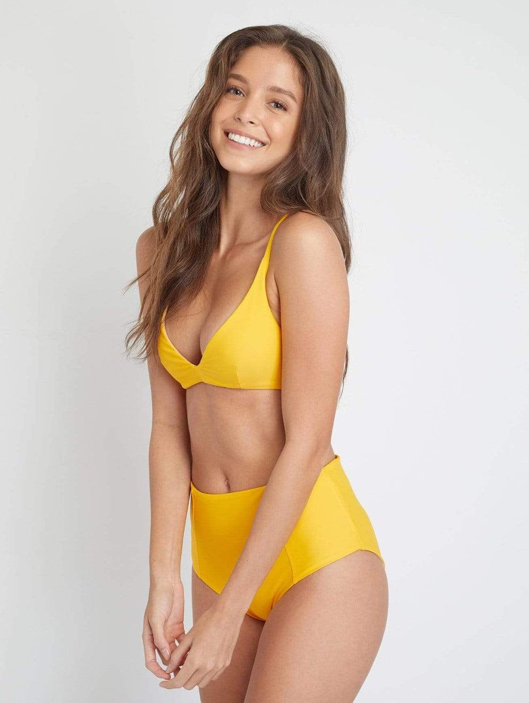 Caspian ECONYL® Tie Bikini Top   Tangerine Orange