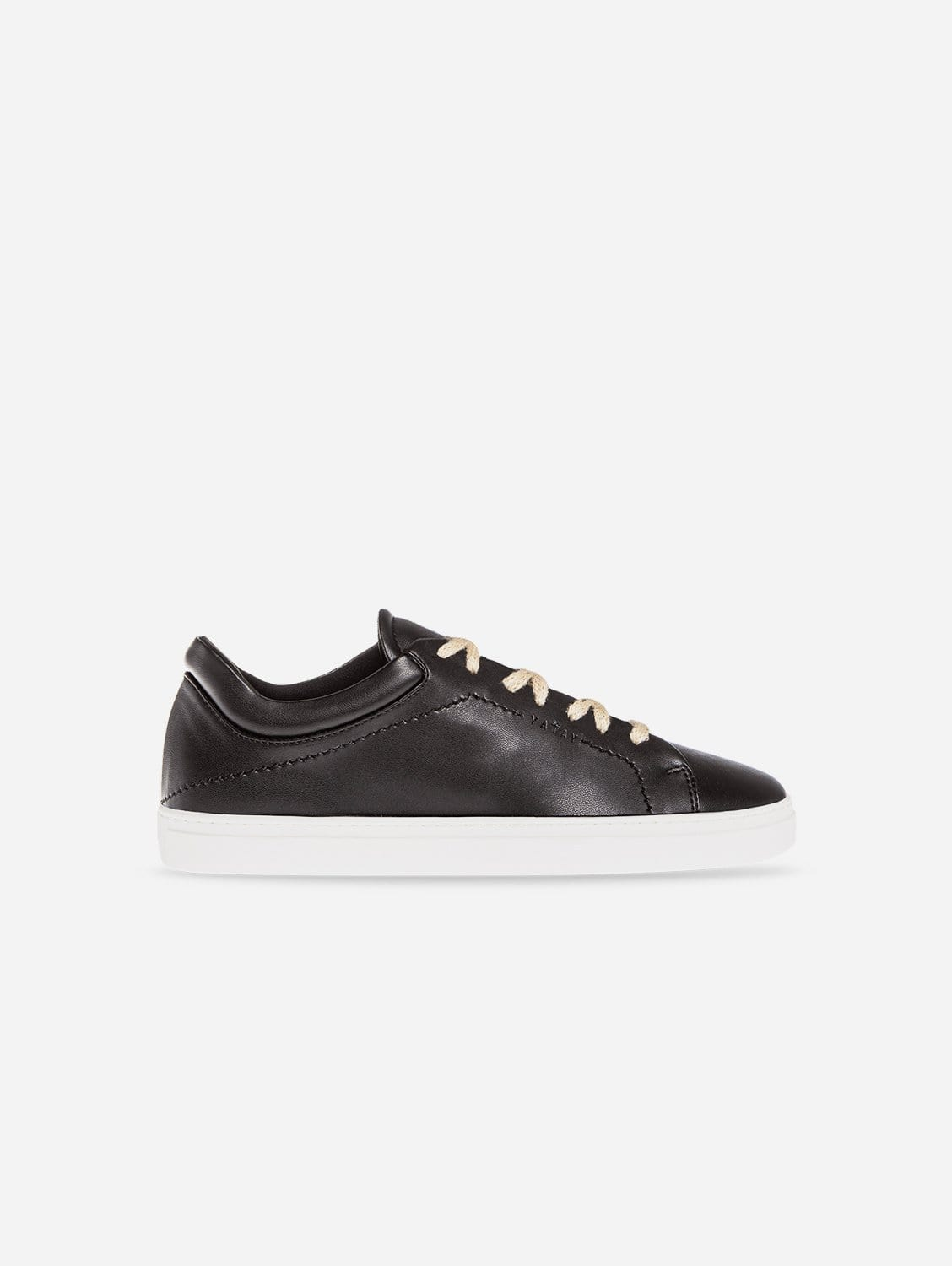 Neven Vegan Leather Low-Top Trainer | Slate Black & White Sole