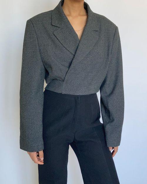 Black & White Reworked Wrap Blazer
