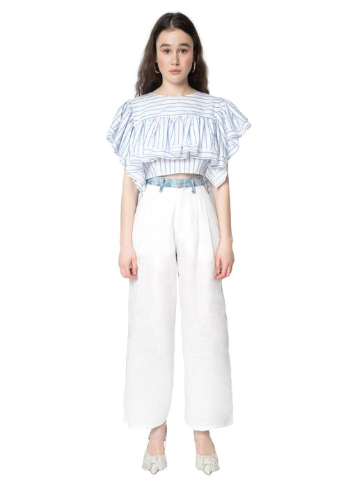 Linen Wide Jeans