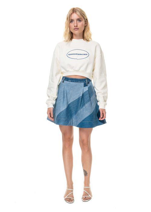 Reworked Diagonal Patchwork Skirt