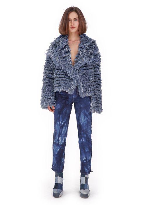 Denim Fur Coat