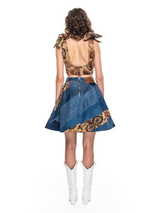 Ksenia Schnaider Reworked Skirt With Jacquard Details