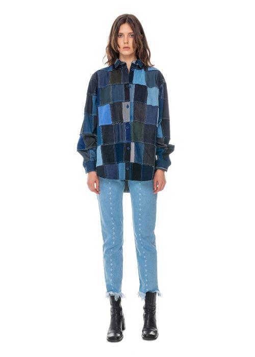Denim Fabric Swatches Shirt