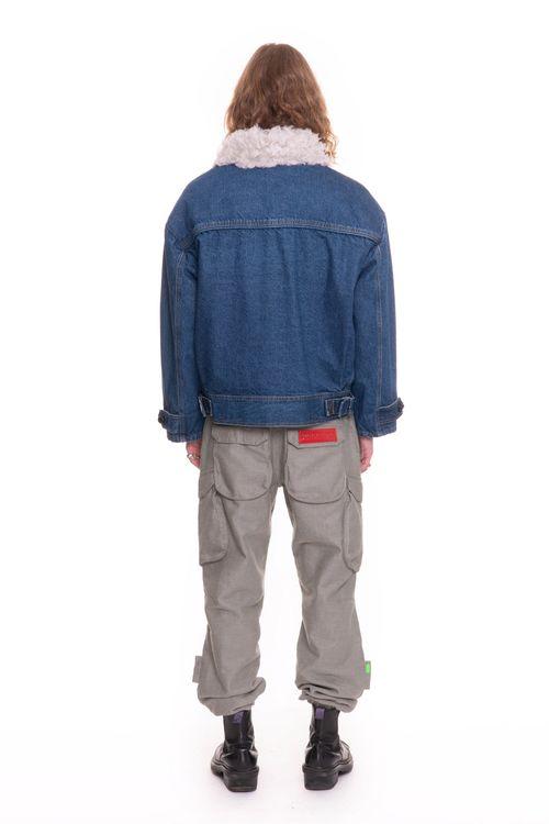 Hemp Fur Denim Winter Jacket