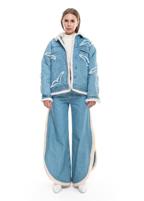 Jacket With Fur and Denim Gulls